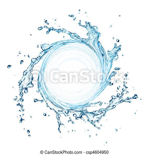 agua, salpicadura, girar - csp4604950