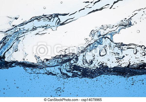 agua, salpicadura - csp14079965