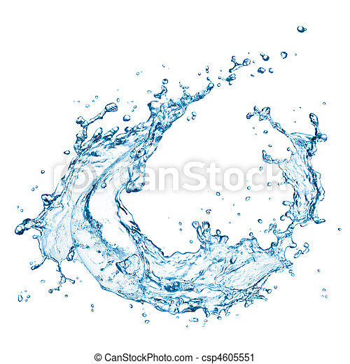 agua, salpicadura - csp4605551