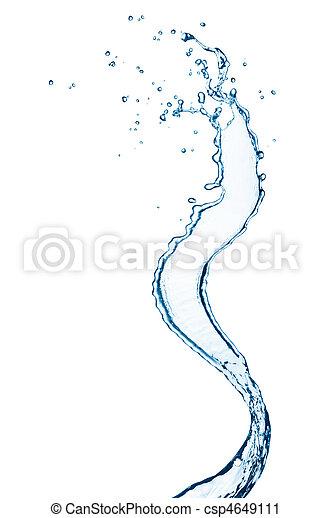 agua, salpicadura - csp4649111
