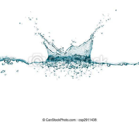 agua, salpicadura - csp2911438