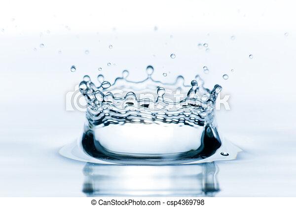 agua, salpicadura - csp4369798