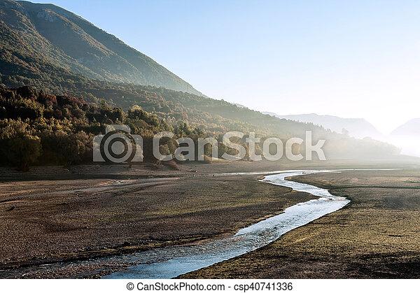 agua, sin, lago, barrea - csp40741336