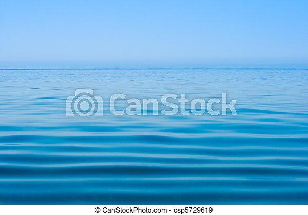 agua, todavía en calma, mar, superficie - csp5729619
