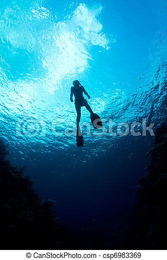 aguas, caribe - csp6983369