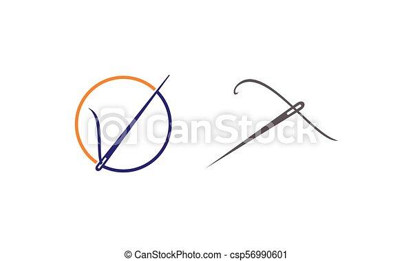 Costura de hilo de agujas - csp56990601