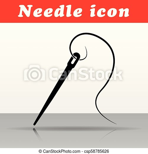 Diseño de icono vector de aguja - csp58785626