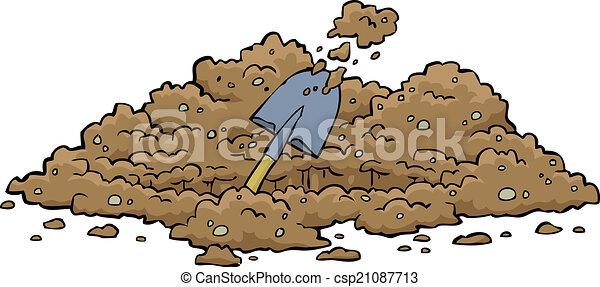 Agujero de excavación - csp21087713