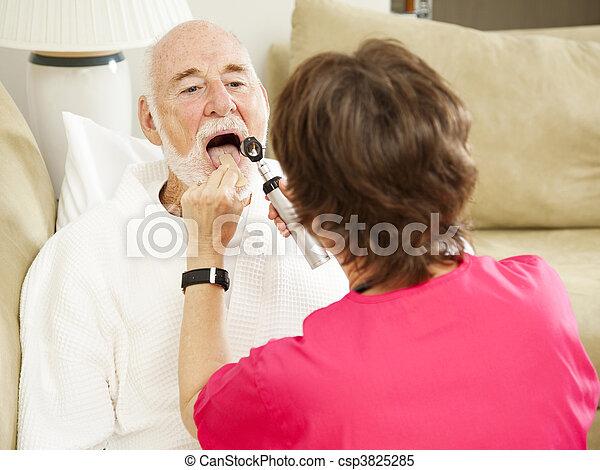 ah, -, dizer, saúde, lar, enfermeira - csp3825285