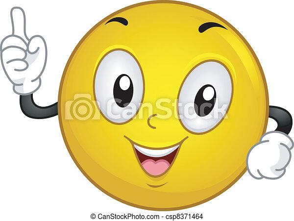 Aha! Smiley - csp8371464