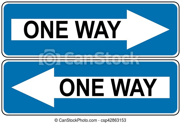 Ahead Only, one way traffic sign, Drive Straight Arrow Traffic Vector illustrations - csp42863153
