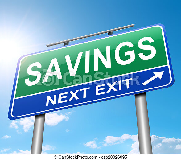El concepto de ahorro. - csp20026095