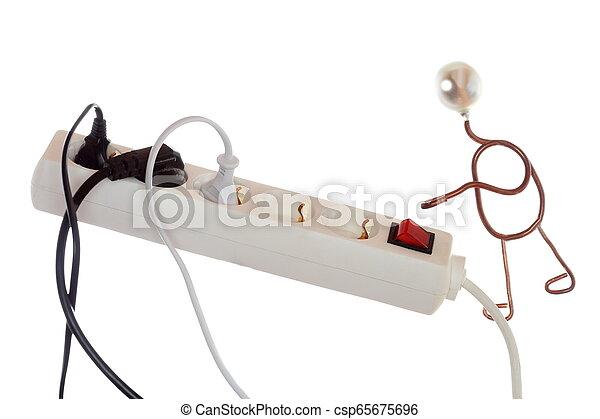 El símbolo de ahorro de energía - csp65675696