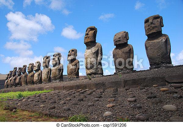 Ahu Tongariki - Easter Island - csp1591206