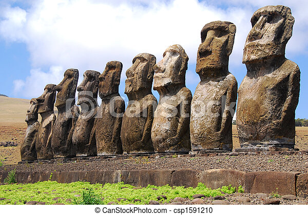 Ahu Tongariki - Easter Island - csp1591210