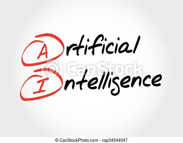 ai, intelligentie, -, kunstmatig - csp34544047