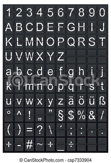 aiarport, textanzeige, digital - csp7333904