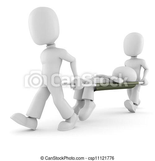 aide, 3d, fond, blanc, premier, homme - csp11121776