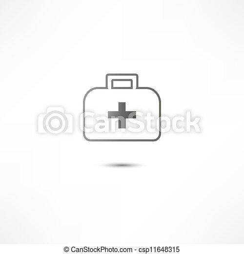 aide, icône, premier, kit - csp11648315
