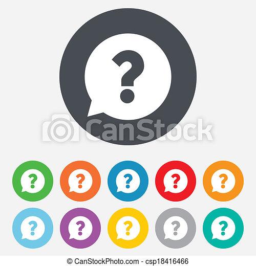 aide, question, symbole., marque, icon., signe - csp18416466