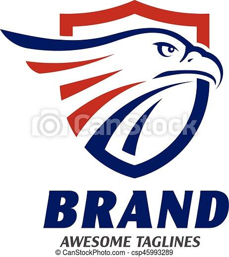 Populaire Vecteur de aigle, cercle, têtes, logo - aigle, tête, elips, têtes  SO29
