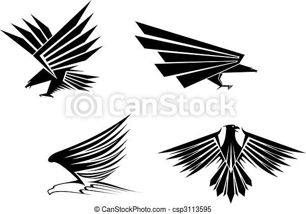 aigle, tatouages - csp3113595