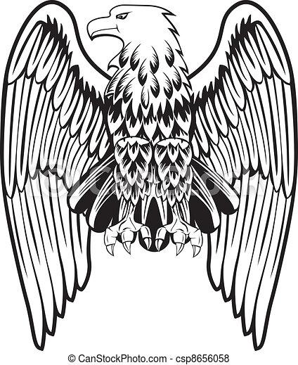 Aigle abaiss ailes - Dessin de aigle ...