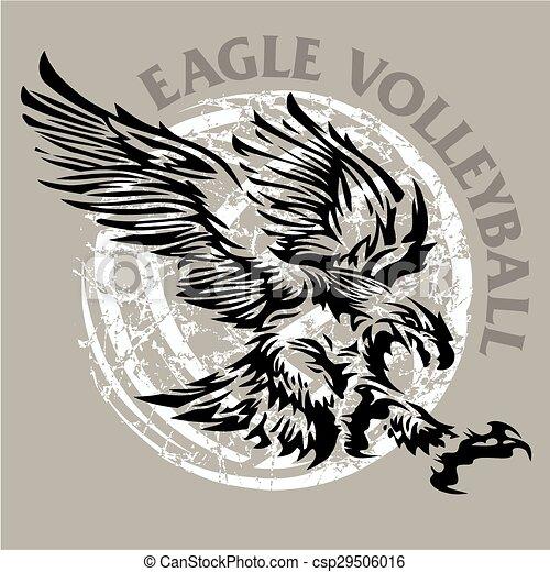 aigle, volley-ball - csp29506016