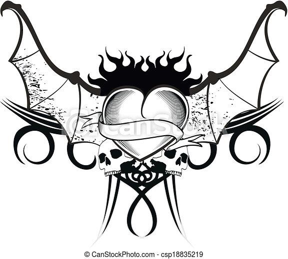 dessin coeur tatouage | kolorisse developpement