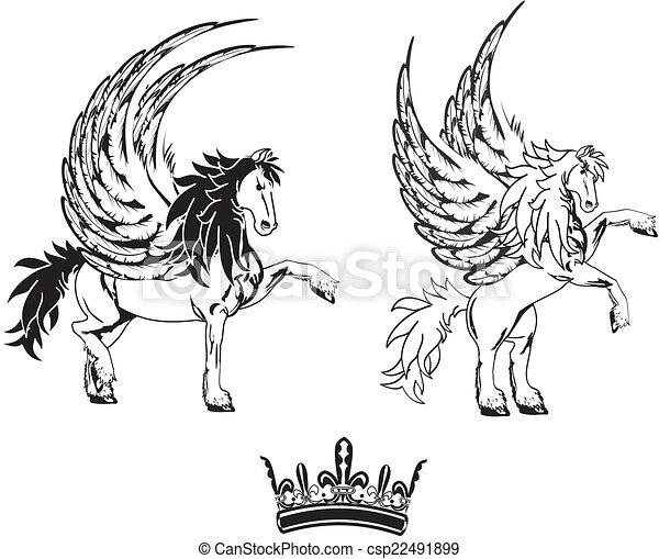 Ail tatouage cheval p gase ensemble tatouage cheval ensemble format ail diter - Comment dessiner un pegase ...