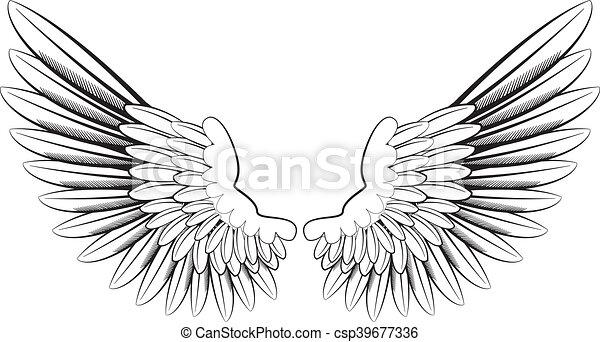 Ailes ange dessins rechercher clipart illustrations et - Ailes d ange dessin ...