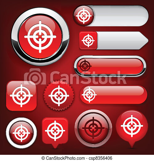 Aim high-detailed modern buttons. - csp8356406