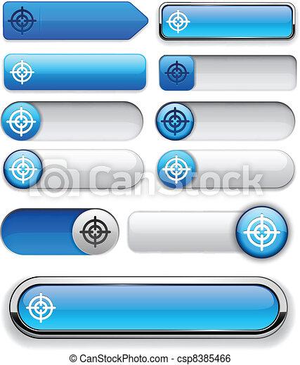 Aim high-detailed modern buttons. - csp8385466