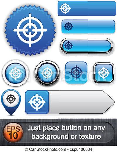 Aim high-detailed modern buttons. - csp8400034