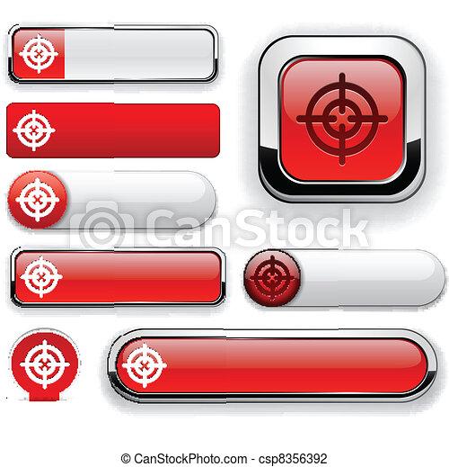 Aim high-detailed modern buttons. - csp8356392