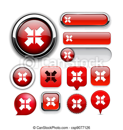 Aim high-detailed web button collection. - csp9077126