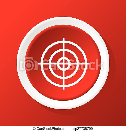 Aim icon on red - csp27735799