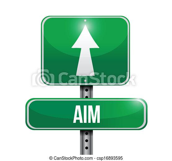 aim road sign illustration design - csp16893595