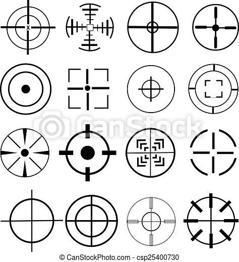 aim target icons set - csp25400730