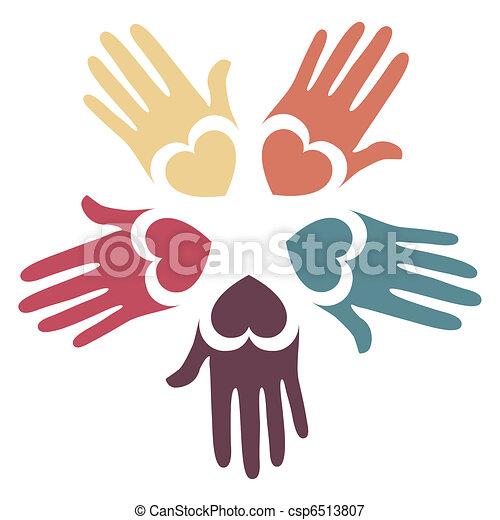 aimer, mains, design. - csp6513807