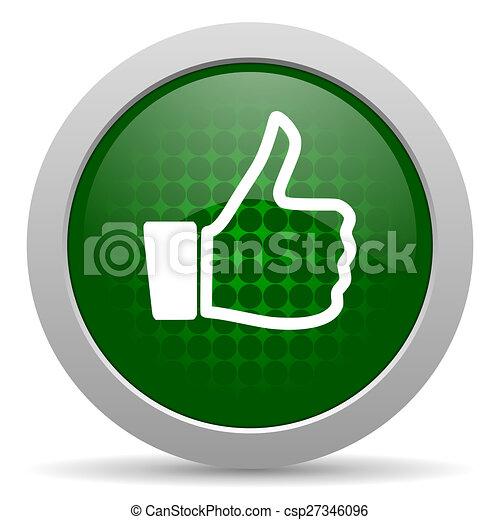 aimer, pouce haut, icône, signe - csp27346096