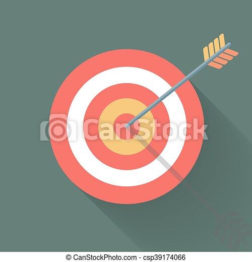 Aiming concept, the arrow in bulls eye - csp39174066