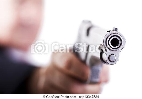 Aiming the gun - csp13347534