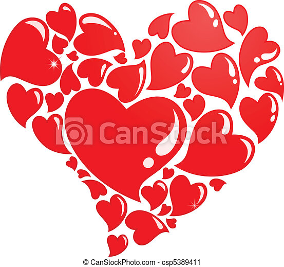 Ainsi beaucoup amour compos coeur c urs beaucoup - Clipart amour ...