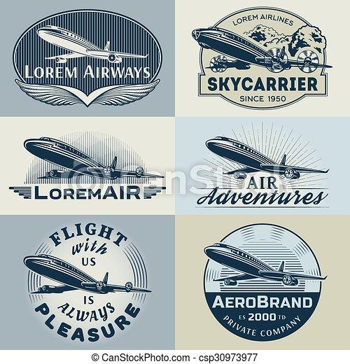 Air badges color1 - csp30973977