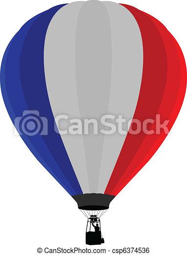Air Balloon, France Flag - csp6374536