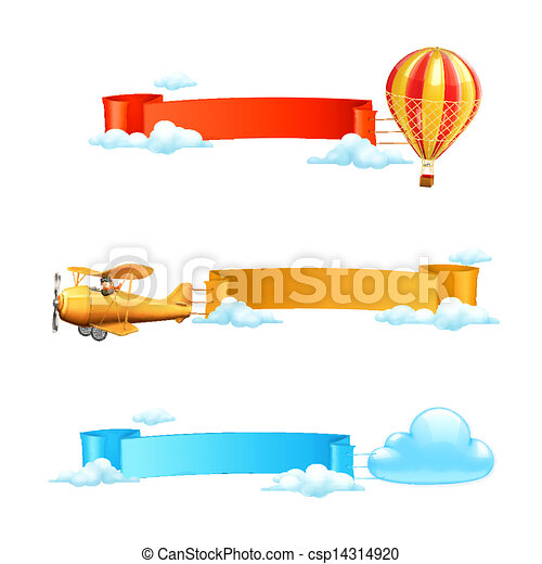 Air banners, vector - csp14314920