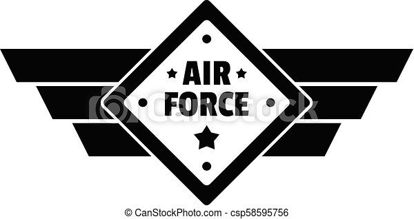 Air best force logo, simple style - csp58595756