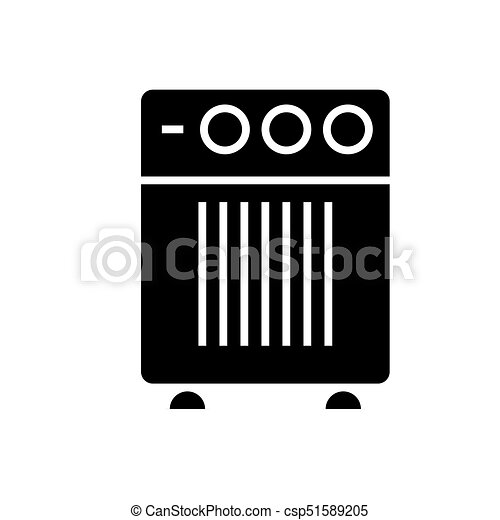air cleaner humidifier icon, vector illustration, black sign on isolated background - csp51589205