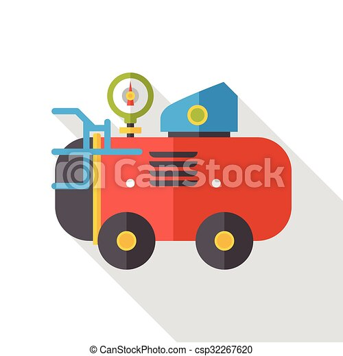 Air Compressor flat icon - csp32267620